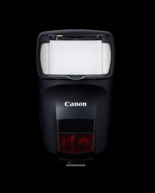 A front view of the Canon Speedlite 470EX-AI.